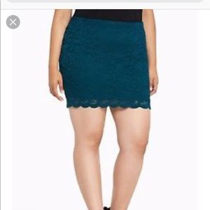 Teal Torrid Skirt